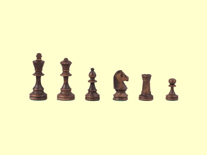 Szachy drewniane Staunton nr 4 - czarne figury