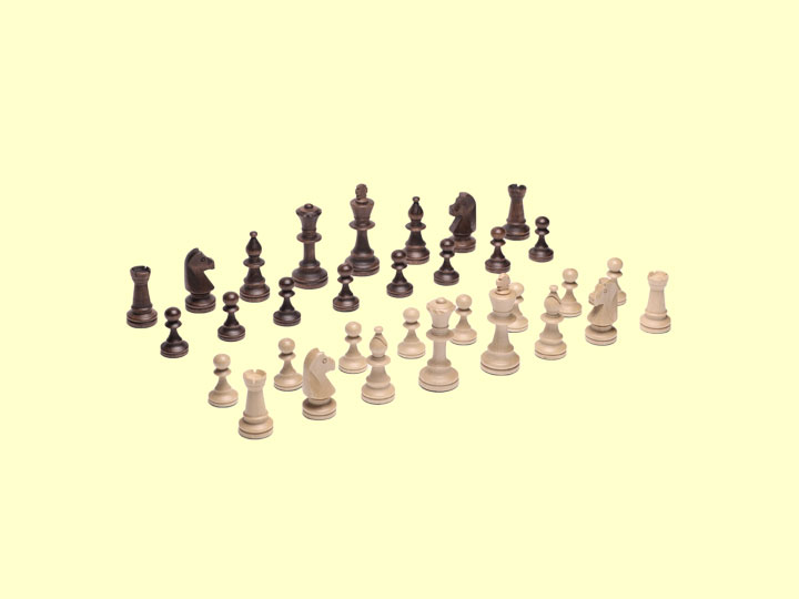 Szachy drewniane Staunton nr 4 - białe i czarne figury