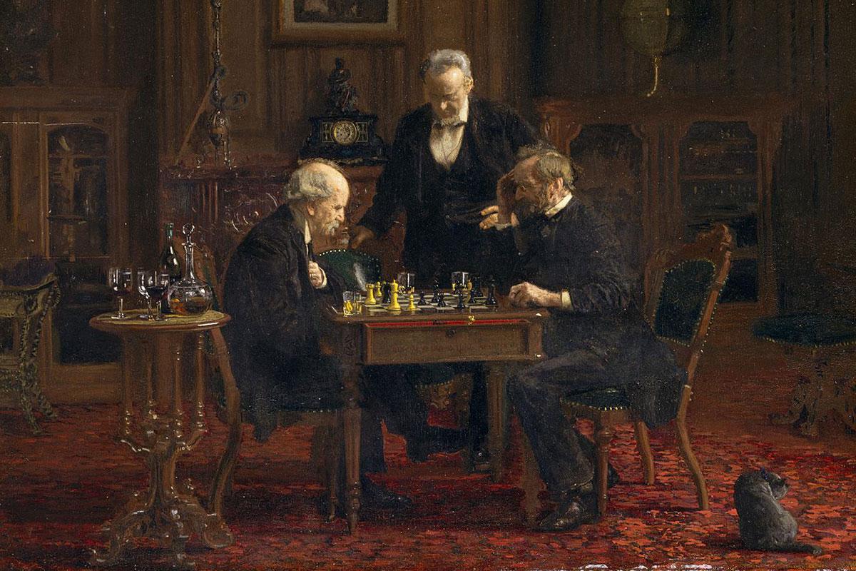 """""""The Chess Players"""" (Szachiści) - Thomas Eakins (1911)"""